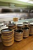 Cocina del restaurante Imagen de archivo libre de regalías
