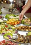 Cocina del restaurante del alimento del abastecimiento Imágenes de archivo libres de regalías