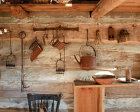 Cocina del rustick de la vendimia, circa 1800s Fotografía de archivo