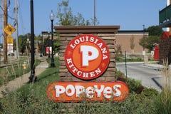 Cocina del ` s Luisiana de Popeye imagen de archivo