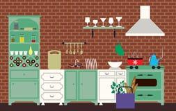 Cocina del vintage Foto de archivo