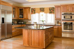 Cocina doméstica fotos de archivo