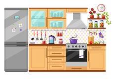 Cocina doméstica Fotografía de archivo libre de regalías