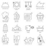 Cocina e iconos el cocinar Imagen de archivo libre de regalías