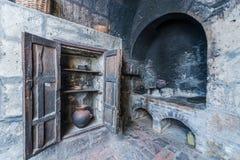 Cocina en el monasterio Arequipa Perú de Santa Catalina imágenes de archivo libres de regalías