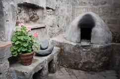 Cocina en Santa Catalina Monastery en Arequipa, Perú foto de archivo libre de regalías