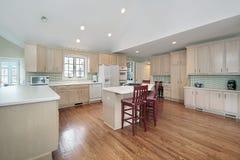 Cocina grande en hogar suburbano Fotografía de archivo