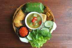 Cocina indonesia tradicional Foto de archivo libre de regalías