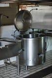 Cocina industrial Imágenes de archivo libres de regalías