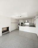 Cocina interior, blanca Fotos de archivo libres de regalías