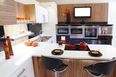 Cocina interior casera Foto de archivo libre de regalías
