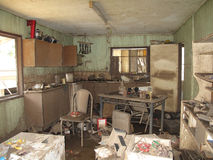 Cocina inundada imagen de archivo