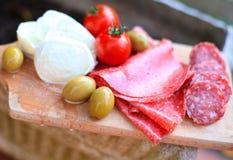Cocina italiana. Alimento gastrónomo Imágenes de archivo libres de regalías