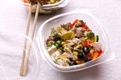 Cocina japonesa, comida en un fondo blanco fotos de archivo libres de regalías