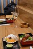 Cocina japonesa de servicio Foto de archivo