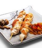 Cocina japonesa - filete del pollo Foto de archivo libre de regalías