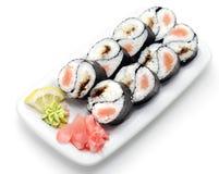 Cocina japonesa - Rolls Yin Yang fotografía de archivo libre de regalías
