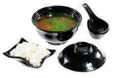 Cocina japonesa -- Sopa Imágenes de archivo libres de regalías