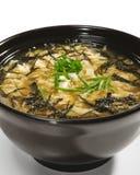 Cocina japonesa - sopa de Miso Fotografía de archivo libre de regalías