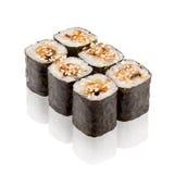 Cocina japonesa. Sushi de Maki. Imágenes de archivo libres de regalías