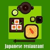 Cocina japonesa tradicional y utensilio Fotos de archivo