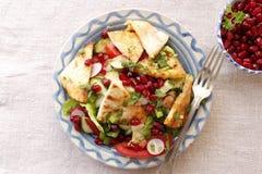 Cocina libanesa, fattush de la ensalada Fotos de archivo libres de regalías