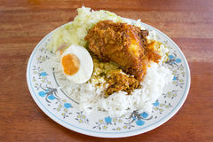 Cocina malasia tradicional, Nasi Kandar Imagen de archivo libre de regalías