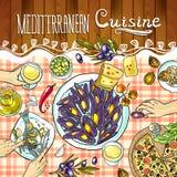 Cocina mediterránea Imagen de archivo libre de regalías