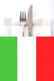 Cocina \ menú italianos del restaurante Fotos de archivo libres de regalías