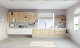 Cocina moderna stock de ilustración