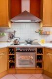 Cocina moderna Foto de archivo libre de regalías