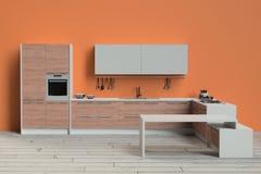 Cocina moderna Foto de archivo