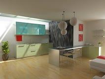 Cocina moderna libre illustration