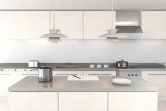 Cocina moderna blanca imagenes de archivo