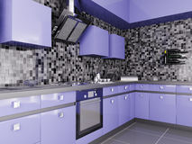Cocina moderna 3d interior Fotos de archivo