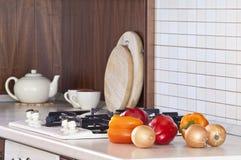 Cocina que cocina a los detalles Fotografía de archivo libre de regalías