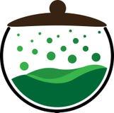 Cocina que cocina el pote Logo Isolated Fotografía de archivo