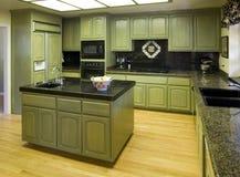 Cocina residencial suburbana foto de archivo libre de regalías