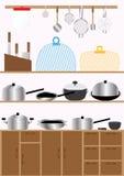 Cocina Set_eps Foto de archivo libre de regalías