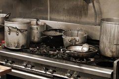 Cocina sucia Fotografía de archivo libre de regalías