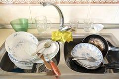Cocina sucia Fotos de archivo