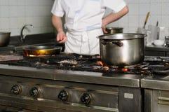 Cocina sucia real del restaurante Fotos de archivo libres de regalías
