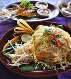 Cocina tailandesa del alimento de la pista Foto de archivo
