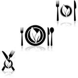cocina vegetariana ilustración del vector