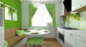 Cocina verde Imágenes de archivo libres de regalías