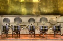 Cocina vieja de la prisión imágenes de archivo libres de regalías