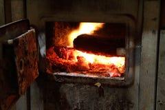 Cocina vieja del cortijo Imagenes de archivo