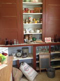 Cocina viva de antaño Imágenes de archivo libres de regalías