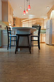 Cocina y Cork Floors remodelados Imagenes de archivo
