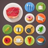 Cocina y el cocinar, sistema del icono ilustración del vector